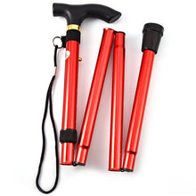 Load image into Gallery viewer, Aluminum Alloy Folding &  Non-Slip Telescopic Stick Trekking Pole For Outdoor Hiking