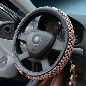 Universal Durable Elastic Stitch Car Steering Wheel Cover(Skidproof & Absorb Sweat)