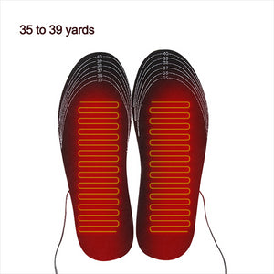 1 Pair USB Outdoor Heated Shoe Insoles