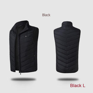New Technology Men Outdoor Fishing Hunting Hiking  Electric Heated Windproof  Zipper Vest