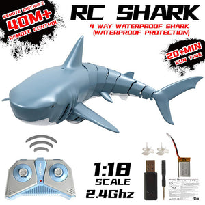 Electric 2.4G Remote Control Simulation Shark Kids Toys
