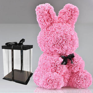 Enchanted Forever Rose Bunny