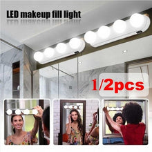 Load image into Gallery viewer, Portable (1/2 pcs)  4 LED Bulbs Make Up Light