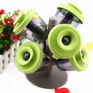 6 pcs Pop Up Spice Jar with Tree Holder