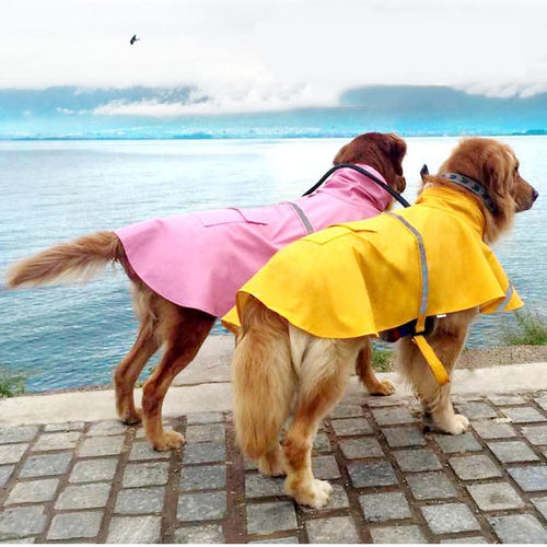 Pet Reflective Waterproof & Snow-Proof Raincoat
