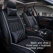Load image into Gallery viewer, All-Inclusive Leather Car Seat Four Seasons Universal Front And Rear Seat Neck Lumbar Pillow