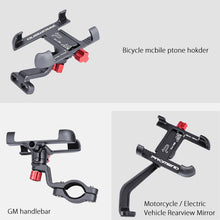 Load image into Gallery viewer, Aluminum Alloy Bike Mobile Phone Holder Adjustable Bicycle Phone Holder Non-slip MTB Phone Stand Cycling Accessories