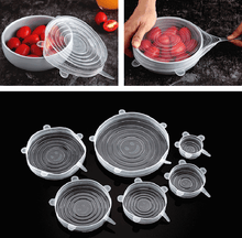 Load image into Gallery viewer, Silicone Stretch Lids, 6-Pack Various Sizes Cover for Bowl