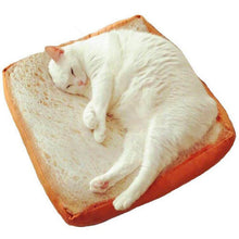 Load image into Gallery viewer, Toast Cat Bed - Toasted Bread Shaped Cat Bed