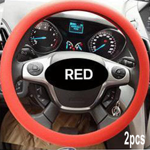 Anti-slip Silicone Car Steering Wheel Protective Cover