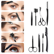 Load image into Gallery viewer, 8 In 1 Stainless Steel Eyebrow Trimming Set