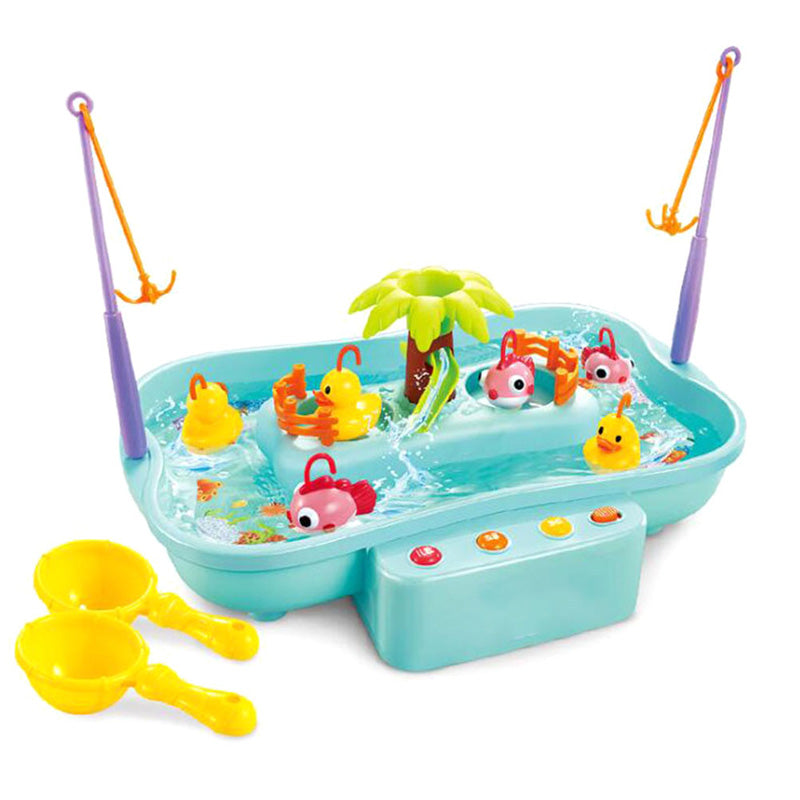 Kid Electric Music Rotary Water Fishing Toy