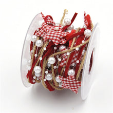 Load image into Gallery viewer, 5M Christmas Tree Decoration Ribbon, Pentagonal Star Bead Chain Ribbon
