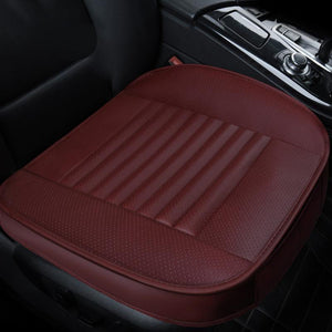 Four Seasons Universal Dani Leather Charcoal All-Inclusive Car Seat Cushion