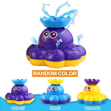 Load image into Gallery viewer, Bath toys, octopus water spray