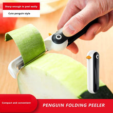 Load image into Gallery viewer, Creative Penguin Shaped Stainless Steel Vertical Folding Peeler