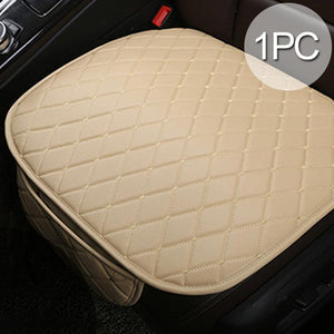 Four Seasons Universal 3 pcs Anti-Skid Leather Car Seat Cover Without Backrest