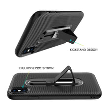 Load image into Gallery viewer, Carbon Fiber Phone Case For Samsung S Series Edge Note/ iPhone 8 7 6 6S Plus X XS XR XS Max Invisible Bracket Soft Shell Protective Cover