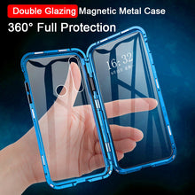 Load image into Gallery viewer, Magnetic Metal Double Side Glass Phone Case For Huawei