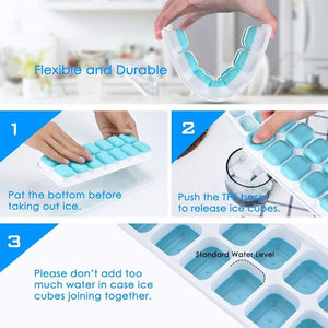 Creative Silicone Ice Tray With Lid Food Grade