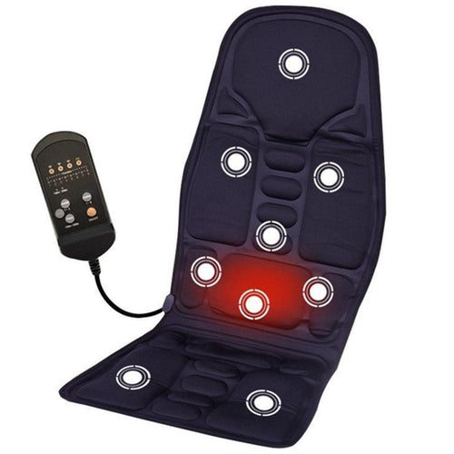 Car Room Dual-Use Heating Massage Cushion & Neck Pain Waist Support Pad