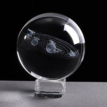 Load image into Gallery viewer, 3D SOLAR SYSTEM CRYSTAL BALL