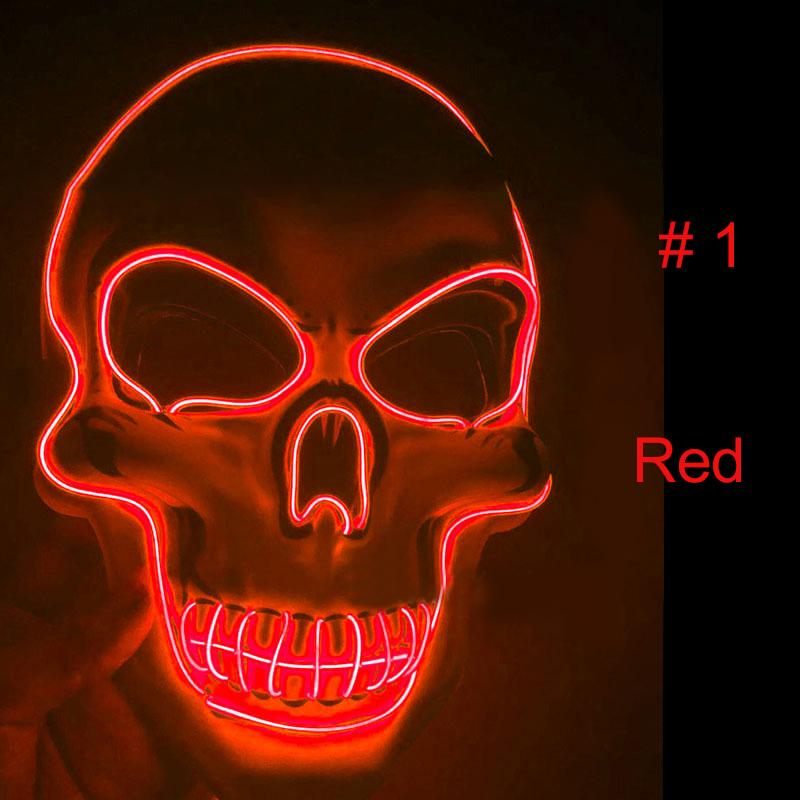 Scary Skeleton LED Light Up Mask