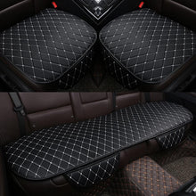 Load image into Gallery viewer, Four Seasons Universal 3 pcs Anti-Skid Leather Car Seat Cover Without Backrest