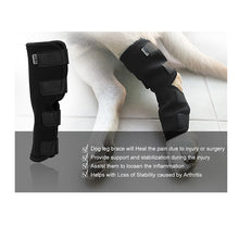 Load image into Gallery viewer, Dog Canine Rear Leg Brace Hock Joint Wrap Protector (1 PAIR)