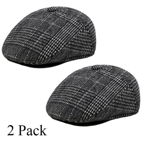 Mens Thickening Adjustable Felt Solid Wool Warm Beret Cap( BUY 1 GET 1 FREE)