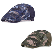 Load image into Gallery viewer, Summer Camouflage Mesh Cotton Beret Cap  (Buy 1 get 1 FREE)