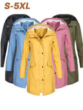 Load image into Gallery viewer, Waterproof Wind Jacket Solid Color Outdoor Hooded Outwear