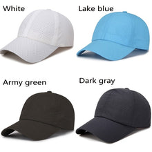 Load image into Gallery viewer, 9 Colors Sunshade Mesh Breathable Baseball Cap