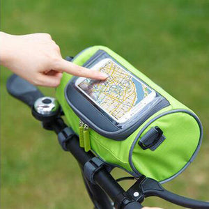 Bicycle touch screen mobile phone bag