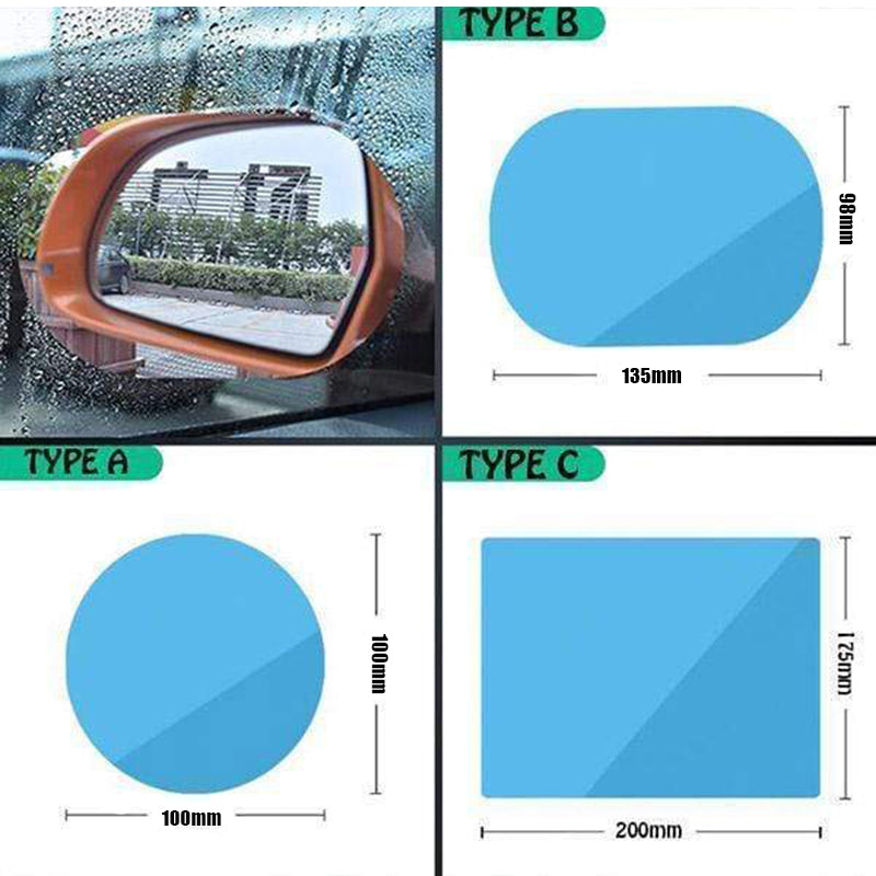 2 PCS Waterproof Film For Car Rear View Mirror