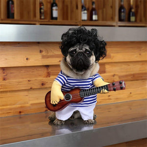 Pet Guitar Costume Halloween Christmas Cosplay