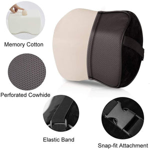 Comfortable Space Memory Adjustable Car Seat Head Pillow