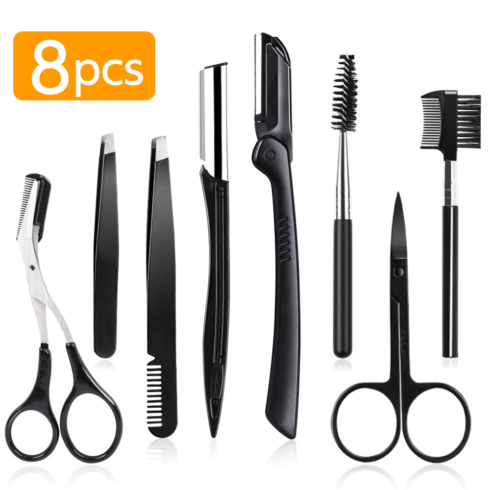8 In 1 Stainless Steel Eyebrow Trimming Set