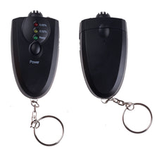 Load image into Gallery viewer, Small Black Key Chain Alcohol Tester