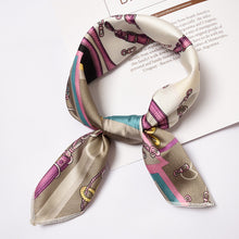 Load image into Gallery viewer, Small Vintage Skinny Retro Silk Scarf