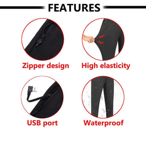 1 Pc Women Winter Outdoor Hiking High Waist Heated Pants