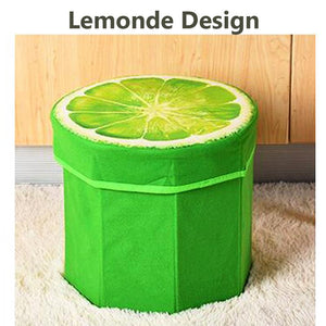 2 IN 1 FOLD-ABLE FRUIT STOOL & STORAGE BOX