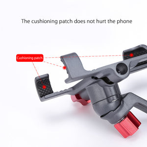 Aluminum Alloy Bike Mobile Phone Holder Adjustable Bicycle Phone Holder Non-slip MTB Phone Stand Cycling Accessories