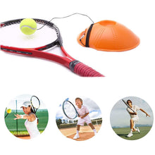 Load image into Gallery viewer, Single Tennis Trainer Base + Rubber Ball Set Portable Self-Time Racket Practice Ball Tennis Training Equipment Tennis Coach Training Rebound Ball