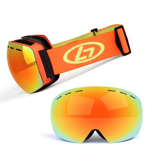 UV400 Snowboard Ski Goggles Double Layer Lens Anti Fog for Men and Women