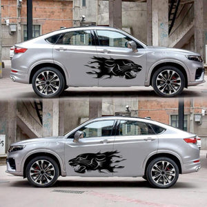2PCS Lion Totem Car Stickers