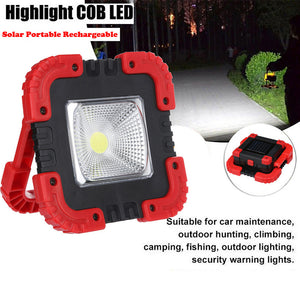 30W Solar COB Work Light Flashlight Solar Portable Rechargeable LED Flood Light Outdoor Garden Work Spot Lamp Portable Lights