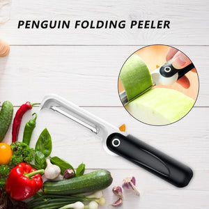 Creative Penguin Shaped Stainless Steel Vertical Folding Peeler