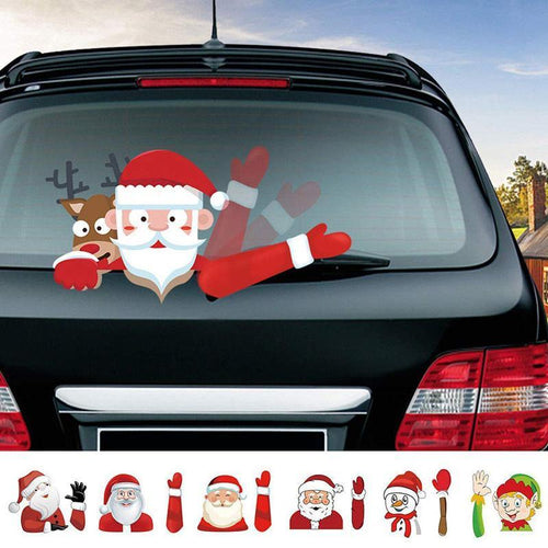 New Christmas Wiper Decals Car Decorations Rear Window Wiper Stickers