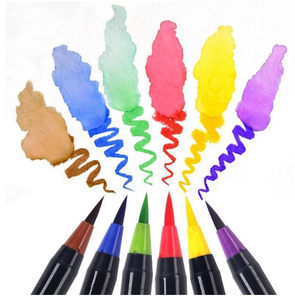 Watercolor Paintbrush Pens